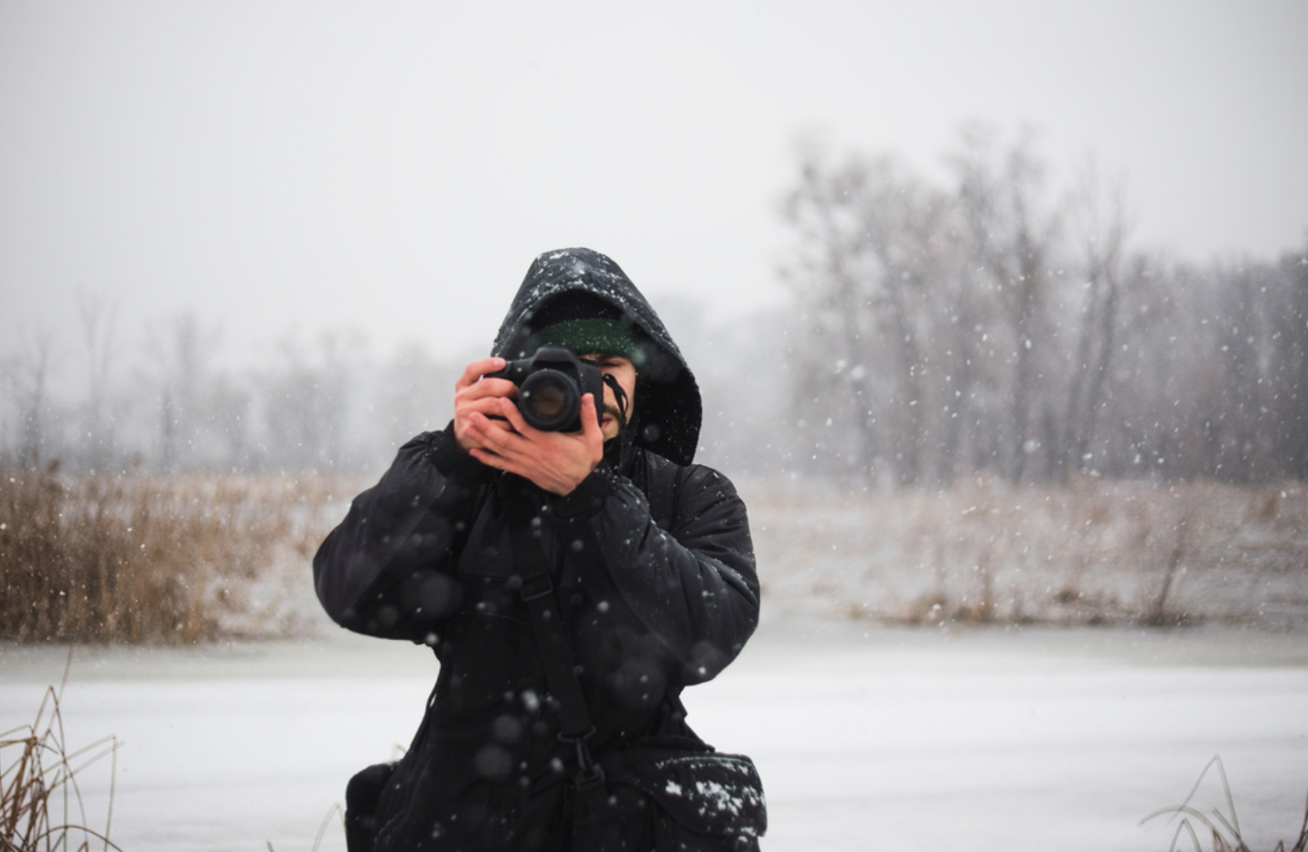 A picture containing outdoor, sky, person, snow  Description automatically generated